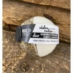 Duo shampoing et revitalisant solides, cèdre/menthe pour cheveux gras, Rose Citron